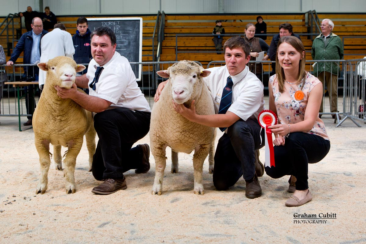 Richard Rossiter (Male Champion) & Thomas Wright (Reserve Champion Male) and Judge Sian Downes